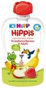 HIPP HiPPiS - Био забавна плодова закуска ябълки с ягоди и банан - продукт