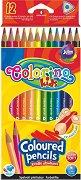 Тристенни цветни моливи - Комплект от 12 цвята