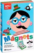 Забавни личица - Детски комплект с 30 магнита - играчка