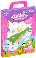 Разкажи забавни истории - Приключения с принцеси - Творчески комплект със стикери -
