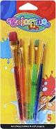 Четки за акрилни бои - Комплект от 5 броя - продукт