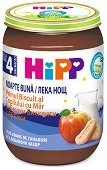 """HIPP - Био млечна каша """"Лека нощ"""" с бисквити и ябълки - Бурканче от 190 g за бебета над 4 месеца - пюре"""
