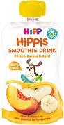 HIPP HiPPiS - Био смути напитка с праскова, банан и ябълка - Опаковка от 120 ml за бебета над 12 месеца -