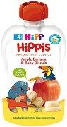 HIPP HiPPiS - Био забавна плодова закуска ябълка, банан и бебешки бисквити - продукт