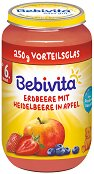 Bebivita - Пюре от ябълка, ягода и боровинки -