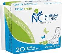 Normal Clinic Ultra Fresh Comfort Line Small Pantyliners - Ежедневни дамски превръзки в опаковка от 20 броя - дамски превръзки