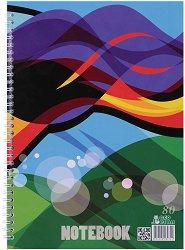 Ученическа тетрадка със спирала : Формат A4 с широки редове - 80 листа - 1 или 3 броя -