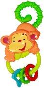 Дрънкалка - Маймунка - Бебешка играчка с дъвкалка -