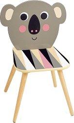Детско дървено столче - Коала - играчка