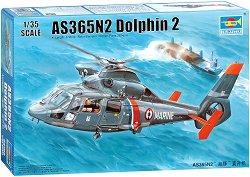 Френски многоцелеви хеликоптер - AS366N2 Dolphin 2 - Сглобяем авиомодел -
