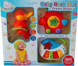 Музикален комплект - Baby Rock Star - Бебешка играчка - играчка
