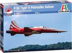 Американски изтребител - F-5 Tiger Patrouille Suisse - Сглобяем авиомодел - макет