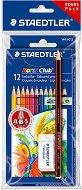 Цветни моливи - Tradition - Комплект от 12 цвята с подарък графитен молив и гума