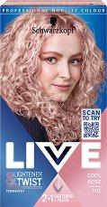 Schwarzkopf Live Lightener + Twist Permanent Color - Изрусител за коса с пастелен оттенък - маска