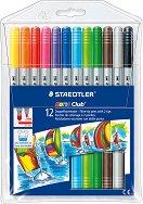 Двувърхи флумастери - Комплект от 12 цвята