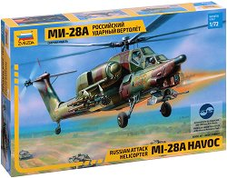 Руски хеликоптер - Ми-28 - Сглобяем модел -