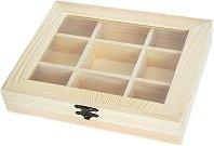 Дървена кутия с 9 разделения