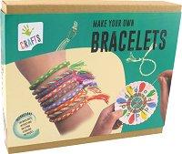 """Изплети сама - Цветни гривни - Творчески комплект от серията """"Crafts"""" - детски аксесоар"""