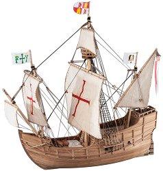 Експедиционният кораб на Христофор Колумб - Santa Maria - Сглобяем модел на кораб от дърво - макет