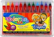 Пастели за рисуване върху лице - Комплект от 6 или 12 цвята