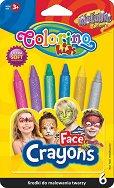 Металикови пастели за рисуване върху лице - Комплект от 6 цвята