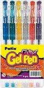 Цветни гел химикалки с брокат - Комплект от 6 цвята