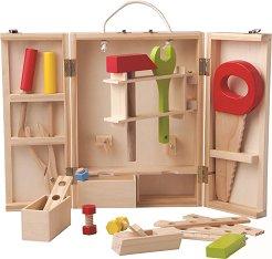Детски дървени инструменти в кутия - Детски играчки - количка