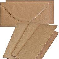 Картончета за картички c пликове - Крафт