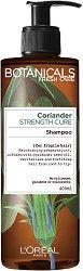 """L'Oreal Botanicals Coriander Strenght Cure Shampoo - Подсилващ шампоан за крехка коса с кориандър от серията """"Botanicals - Coriander"""" - продукт"""