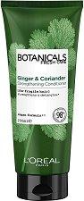 """L'Oreal Botanicals Coriander Strenght Cure Conditioning Balm - Подсилващ балсам за крехка коса с кориандър от серията """"Botanicals - Coriander"""" - продукт"""