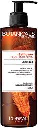 """L'Oreal Botanicals Safflower Rich Infusion Shampoo - Шампоан за суха коса с шафранка от серията """"Botanicals - Safflower"""" - крем"""