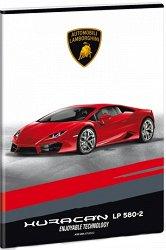 """Ученическа тетрадка - Lamborghini : Формат А4 с широки редове - 40 листа от серията """"Lamborghini"""" - несесер"""