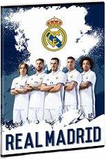 Ученическа тетрадка - Real Madrid : Формат А5 с широки редове - 40 листа -