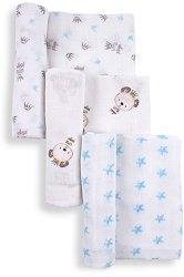 Бебешки памучни пелени - Комплект от 3 броя с размери 80 x 80 cm - продукт
