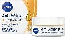 Nivea Anti-Wrinkle + Revitalizing Day Care 55+ - Регенериращ дневен крем за лице против бръчки -
