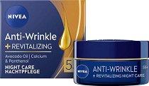 Nivea Anti-Wrinkle + Revitalizing Night Care 55+ - продукт