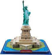 """Статуята на свободата - 3D пъзел от колекцията """"Архитектурни забележителности"""" - пъзел"""