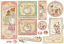Декупажна хартия - Перкарна за сладки