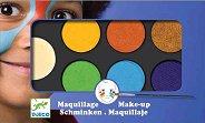 Бои за лице в натурални цветове - Комплект от 6 цвята с гъба и четка за нансяне - продукт