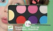 Бои за лице в ярки цветове - Комплект от 6 цвята с гъба и четка за нансяне - продукт