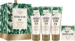 """Scottish Fine Soaps Coconut & Lime Luxurious Gift Set - Луксозен подаръчен комплект с козметика за тяло от серията """"Coconut & Lime"""" - продукт"""