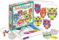 Създай и оцвети сам витражи - Бухали - творчески комплект