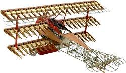 Самолет - Fokker DR.I The Red Baron's trplane - Сглобяем модел на самолет от дърво -