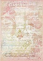 Декупажна хартия - Нотен лист