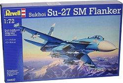 Руски изтребител - SU-27 SM Flanker - Сглобяем авиомодел - макет