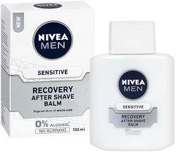 """Nivea Men Sensitive Recovery After Shave Balm - Балсам за след бръснене за чувствителна кожа от серията """"Sensitive Recovery"""" - серум"""