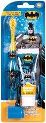 """Детски комплект за дентална грижа - Четка и паста за зъби от серията """"Батман"""" -"""