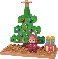 """Коледната елха на Маша - Детски конструктор от серията """"Маша и Мечока"""" - играчка"""