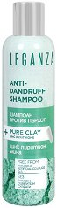 Leganza Anti-Dandruff Shampoo + Pure Clay - Шампоан против пърхот с цинк пиритион и глина - маска