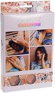 Бои с брокатен ефект за тяло - Ориентал - Комплект от 2 цвята, 2 четки и лепенки